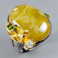 Sphene Ring Silver 925 Sterling Handmade Size 8.75 /R128813