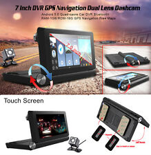 7'' HD Auto DVR Video Recorder Dual Camera Dash Cam+GPS Navigation +Backup Image