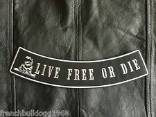 Live Free or Die Patch Banner XL 30x6 cm Rockabilly Old School Biker Kutte MC