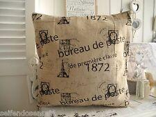 Beige Paris Schriftzug Kissenbezug Kissen Landhaus Nostalgie shabby chic French