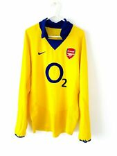 Arsenal Away Shirt 2003. Small Adults. Original Nike. Yellow Football Top Only S