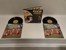 VG++ BEAUTIFUL! Elvis Presley Aloha From Hawaii Via Satellite LP TAN RCA~INNERS!