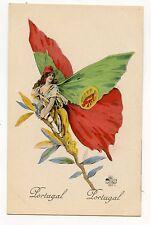 FEMME PAPILLON . SURREALISME . PATRIOTIQUE . PORTUGAL . WOMAN BUTTERFLY .