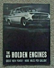 EH Holden Adverting Brochure - The New Holden Engines