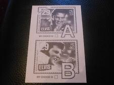 ELVIS PRESLEY POSTCARD USA AK CARD POSTKARTE POSTAL STAMP SELLO