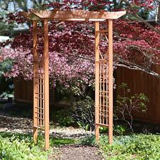 6.5 Foot Pagoda Style Wood Arbor Outdoor Home Living Garden Furniture Patio