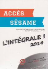 Coffret ACCES SESAME Intégrale préparer concours avec CORRECTIONS livres