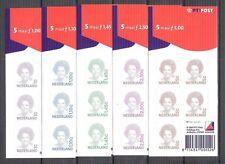 Nederland NVPH 1491b - 1501b Velletjes Beatrix Inversie 2001 Postfris