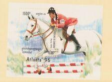 MayfairStamps 1996 Cambodia 1352 Atlanta Summer Olympics Equestrian Souvenir She