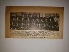Concordia College Moorhead Minnesota 1922 Football Team Picture RARE!