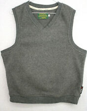 Vtg 90s Bastion Golf Polartec Gray Fleece Sleeveless Vest Jacket Men's Medium