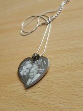 Personalised Photo/text Engraved Heart Necklace Pendant Wedding Birthday Gift