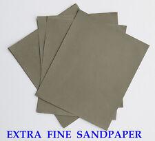 "10 sheets EXTRA FINE Sandpaper Wet or Dry MATADOR  3""x 5 1/2""  3000 Grit"
