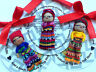 New Guatemalan Worry Doll Handmade in Guatemala with Printed Legend