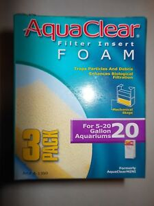 AquaClear 20 / Aqua Clear 100 Aquarium Filter Foam 3 pack A-1390 A1390