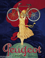 Vintage Poster/Print/French Cycling Poster/Bicycle /Racing Bike/Geugeot/ 17x22in