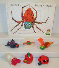 Eric Carle Book & Toy Lot Very Busy Spider Grouchy Ladybug Hungry Caterpillar