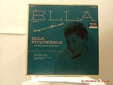 ELLA FITZGERALD -(EP W / COVER)- ELLA  PART 1- SONGS IN A MELLOW MOOD- LATE 50'S