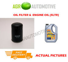 PETROL OIL FILTER + LL 5W30 ENGINE OIL FOR PEUGEOT 308 SW 1.2 131BHP 2014-
