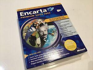 Microsoft Encarta Premium Suite 2003 PC DVDROM  - BIG BOX