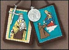 Cloth Our Lady Mount Carmel Saint Simon Silver Glid St Benedict Medal Scapular