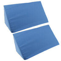 2pc Washable Foam Bed Wedge Pillow Elevation Cushion Lumbar Back Leg Support