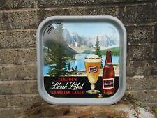 More details for vintage carling black label beer advertising tray - 1970's pub decor