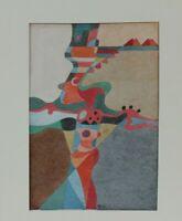 Erich Wegner Abstrakte Komposition Aquarell Büttenpapier um 1970 signiert