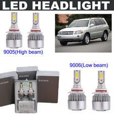 9006+9005 15200LM LED Hi/ Lo Beam Headlight Kit For Toyota Highlander 2003-2001
