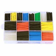 Ginsco 580 Pcs 2:1 Heat Shrink Tube 6 Colors 11 Sizes Tubing Set Combo Assorted