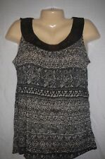 French Laundry Copper studded SLEEVELESS TOP, BLOUSE, SHIRT Size S