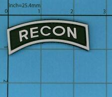 PVC BLACK AND WHITE RECON MORALE PATCH TAB UNIFORM VEST B39 SHOULDER ARMY