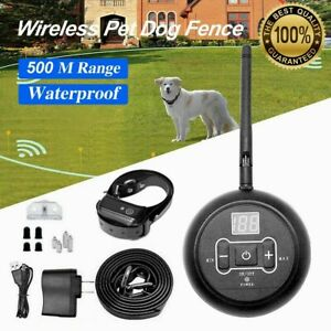 Wireless Electric Dog Fence Dogs Pet Containment System Shock Collar waterproof