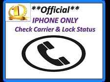 IPHONE Sim Lock Status, Network & Carrier Check Service(IMEI #) **Fast Service**