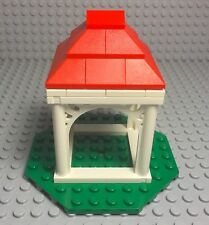 Lego New MOC City / Friends Ornamented Arch Mini Gazebo / Removable Cabana Top