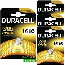 4 x Duracell CR1616 3V Lithium Coin Cell Battery DL1616 1616 BR1616 ECR1616