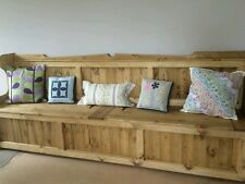 Church Pew, Monks Bench Settle   8ft long and 20 inch Depth. ( ANY SIZE MADE )
