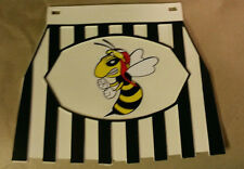 Vespa Wasp White and Black Stripped Mudflap Hard Rubber Type.. New!!