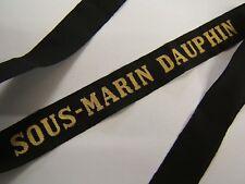 SOUS MARIN DAUPHIN Marine Ruban légendé Bande de bachi ORIGINAL FRENCH SUBMARINE