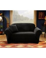 Sure Fit Stretch Corduroy Pearson Loveseat Slipcover Box Cushion Style Ebony