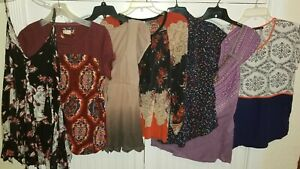FREE PEOPLE & ANTHROPOLOGIE Bundle Lot 7 Pieces Shirts Tops Size S~M