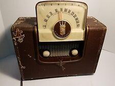 ANTIQUE 1951 ZENITH MODEL G503-Y FLIP UP ROYALTY OF RADIO AM TUBE RADIO Vintage