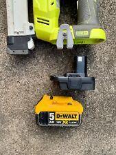 DeWalt 18v battery adaptor to Ryobi Drill/Grinder/Driver/Hammer/Saw/Nailer