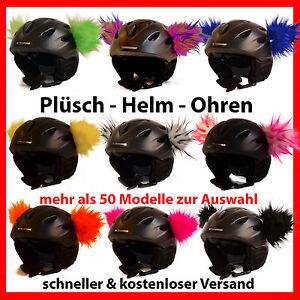 Helmohren /Plüschohren/ Ohren für d. Helm/ Skihelm/ Snowboardhelm - Farbauswahl!