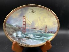 "Thomas Kinkade's Shores of Inspiration collectible ceramic plate ""May� San Fran"