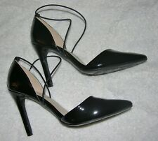 """ANN MARINO"" Women's Patent Leather Black High Heels Size 7 1/2 Medium Amelie."