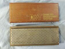 Vintage DMT Diamond Sharpening System Blue Sharpening Stone Wooden Storage Box