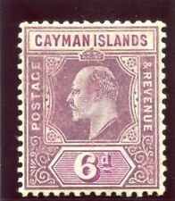 Cayman Islands 1908 KEVII 6d dull purple & violet-purple MLH. SG 30.