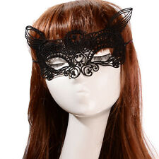 Charm Cat Lace Flower Hollow Women's Carnival Masquerade Ball Face Eye Mask Gift