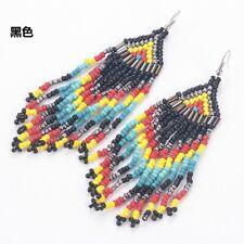 Multicolour Seed Beaded Earrings Bohemian Handmade Drop Dangle Earrings Jewelry